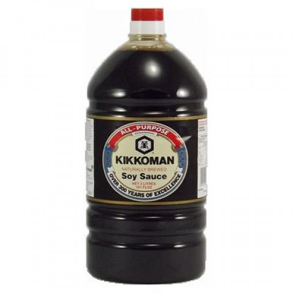 Kikkoman Soy Sauce 3L x 4, 600mL x 12 (Made in Singapore)