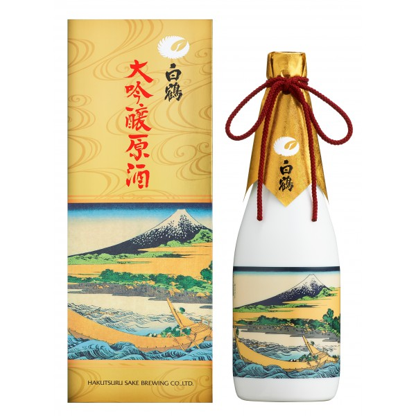 Hakutsuru Daiginjyo Genshu Tago Shore- Thirty-six Views of Mount Fuji by Katsushi Kahokusai (Limited Edition) 720ML